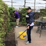 Werken in de tuin